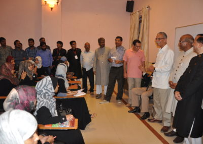 Alumni's Delegation led by Former Vice Chancellor at Bridge Course